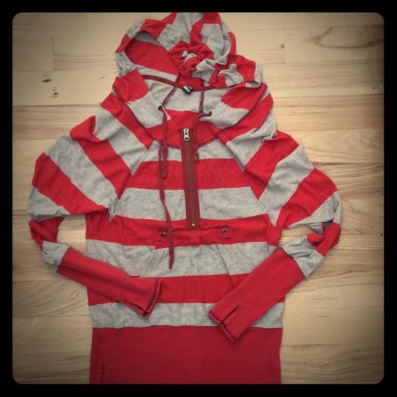 Free People Tops - Free People pullover hoodie weathered vintage S
